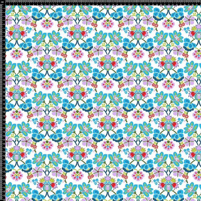 J632 MULTI FLORAL COLORFUL PRINT