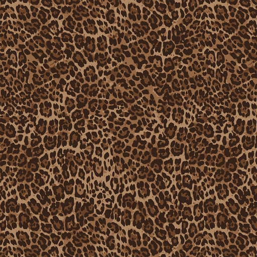 S633  NATURAL DARK LEOPARD PRINT
