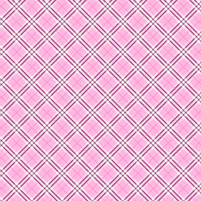 J640 PINK AND WHITE PLAID PRINT
