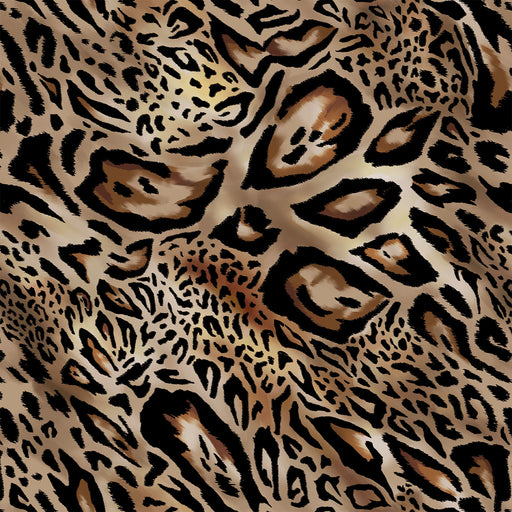 S641 MIXED DISTORTED NATURAL ANIMAL PRINT