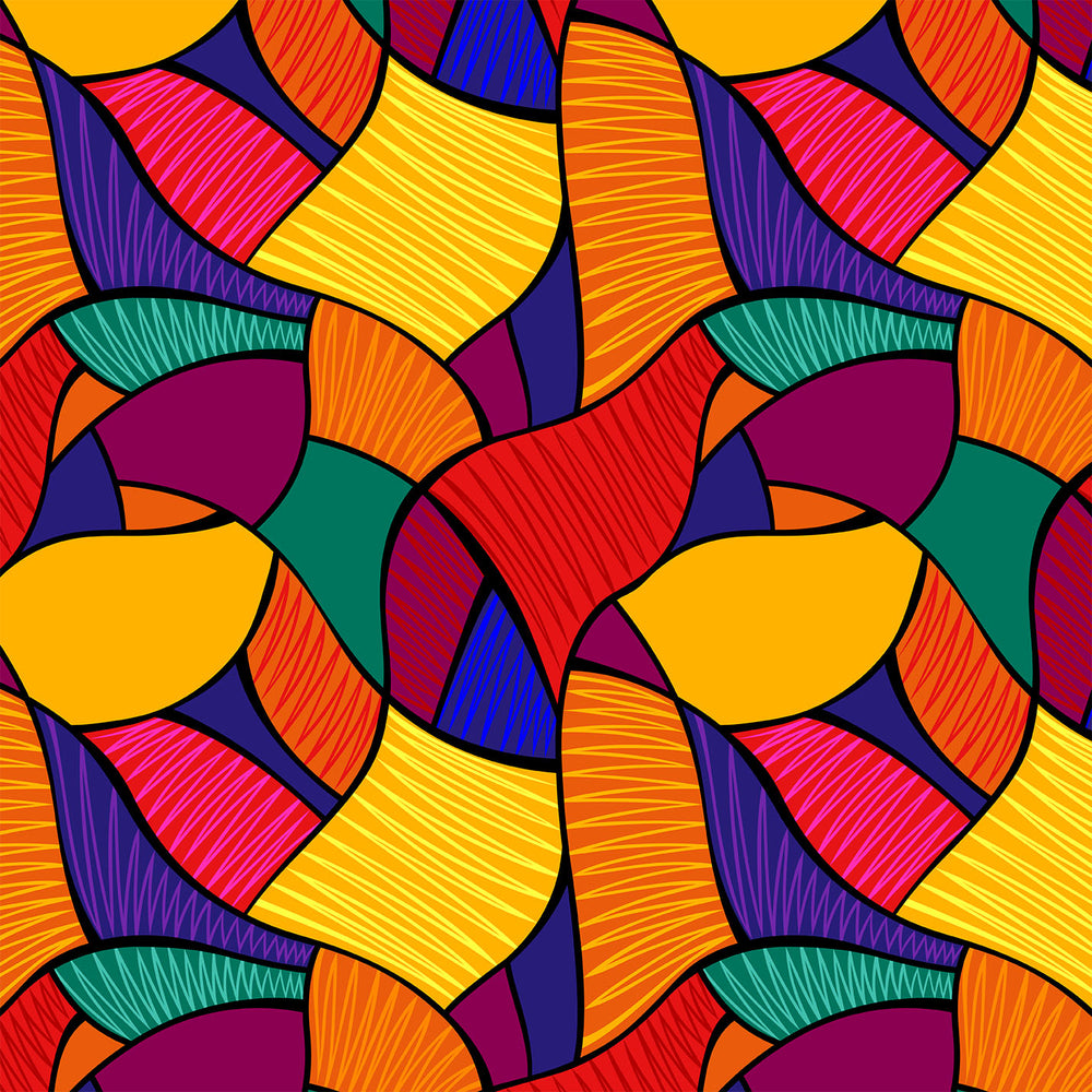 S647 ABSTRACT SHAPES COLOURFUL PRINT