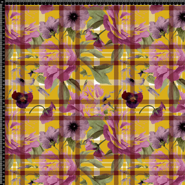 S659 CHECK AND FLORAL MERGE  PRINT