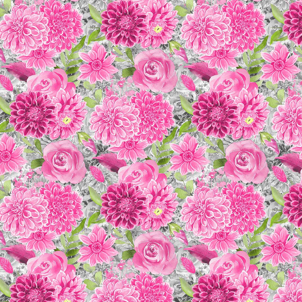 J788 COLORFUL MIX ROSES FLORAL PRINT