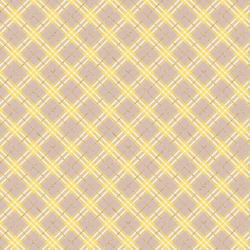 J799 BROWN AND YELLOW PLAID CHECK PRINT