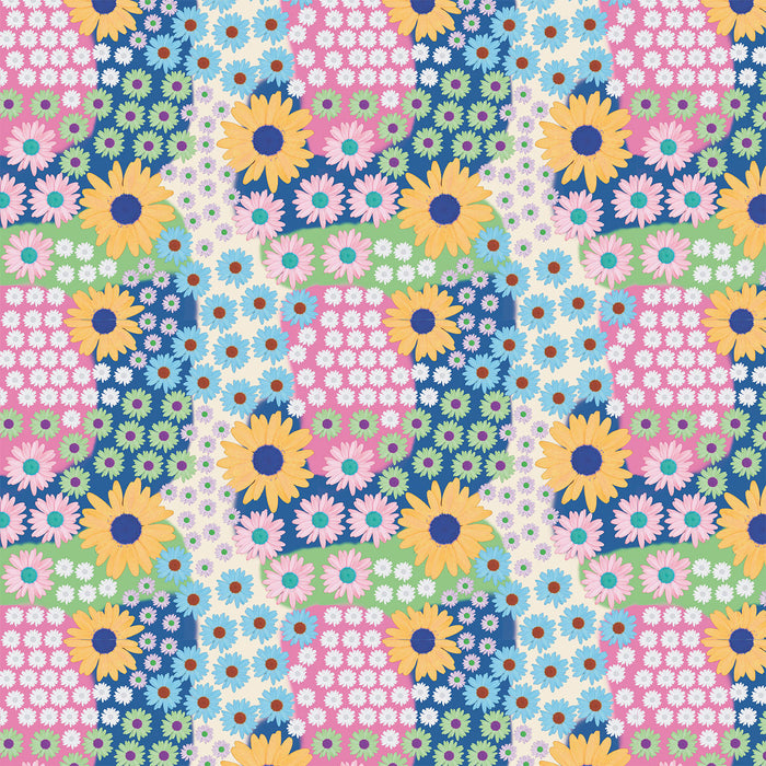 V8112 COLOURFUL DAISY FLORAL PRINT