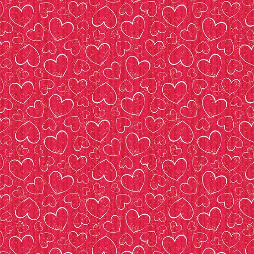 J820 RED LOVE HEARTS PRINT