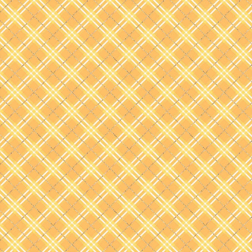J884 YELLOW PLAID CHECK PRINT