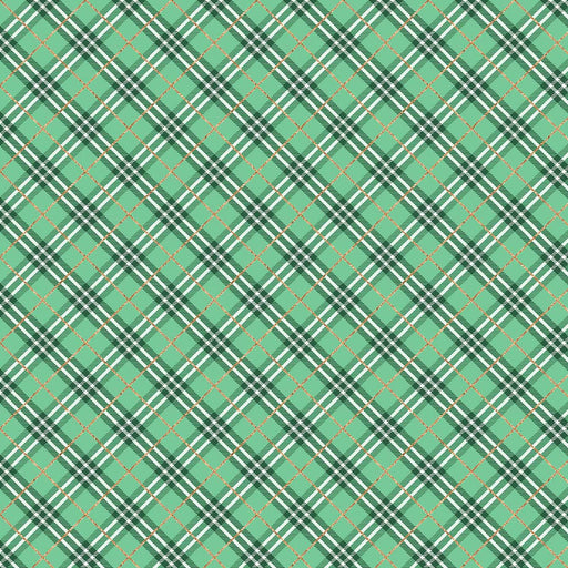 J917 GREEN AND BLACK PLAID PRINT