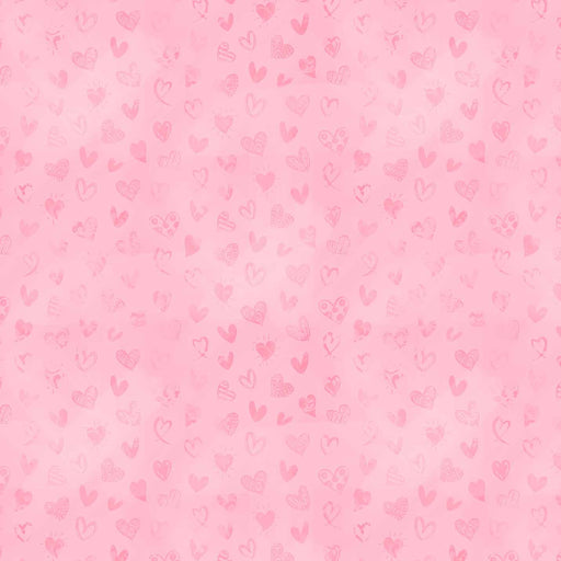 J943 LOVELY PINK HEARTS PRINT