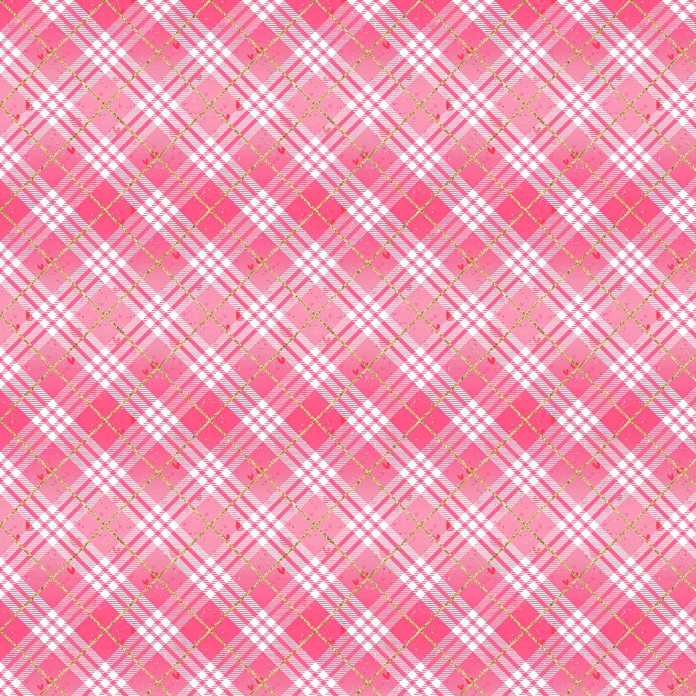 J951 RED AND WHITE PLAID PRINT