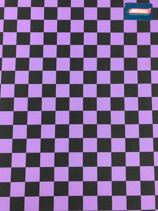 J111 Purple Check Print