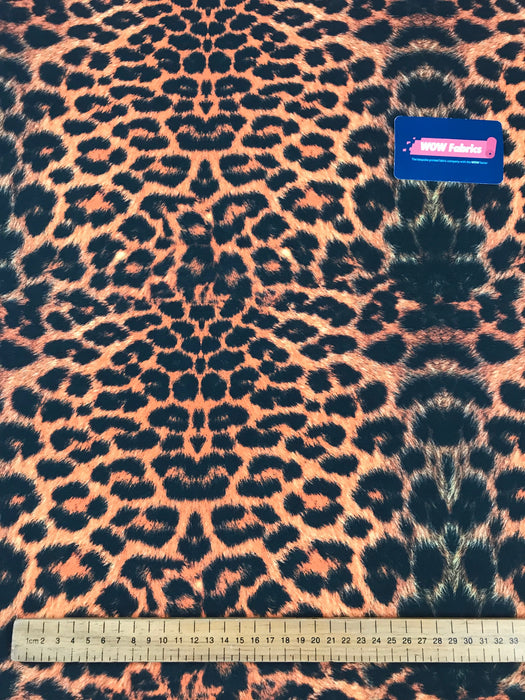 S27 Orange Leopard Detail Print