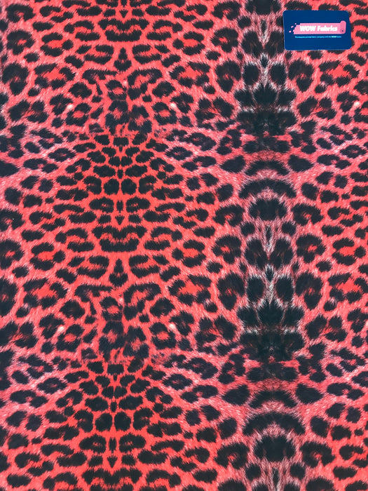S26 Red Leopard Detail Print