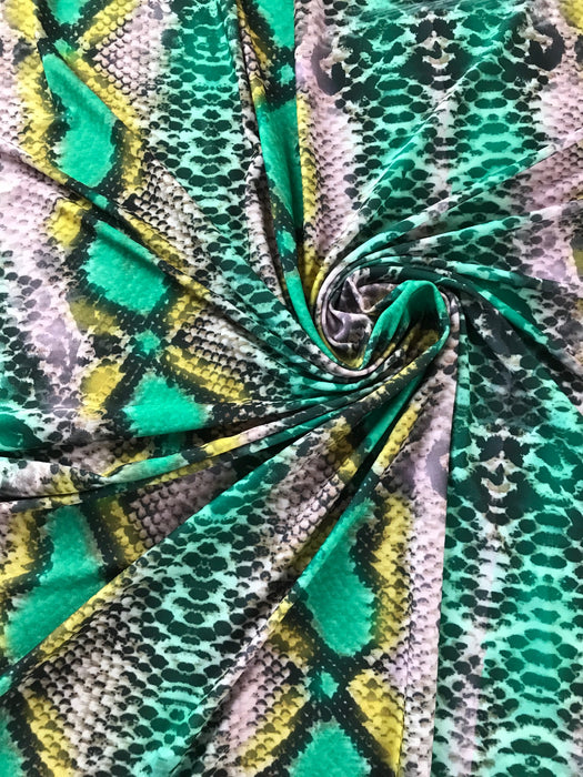 S20 Green Yellow Snake Print