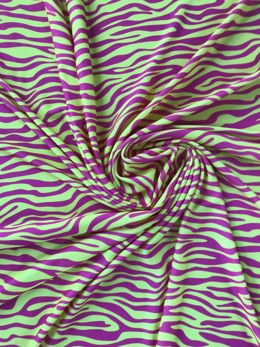 J120 Yellow and Pink Zebra Print