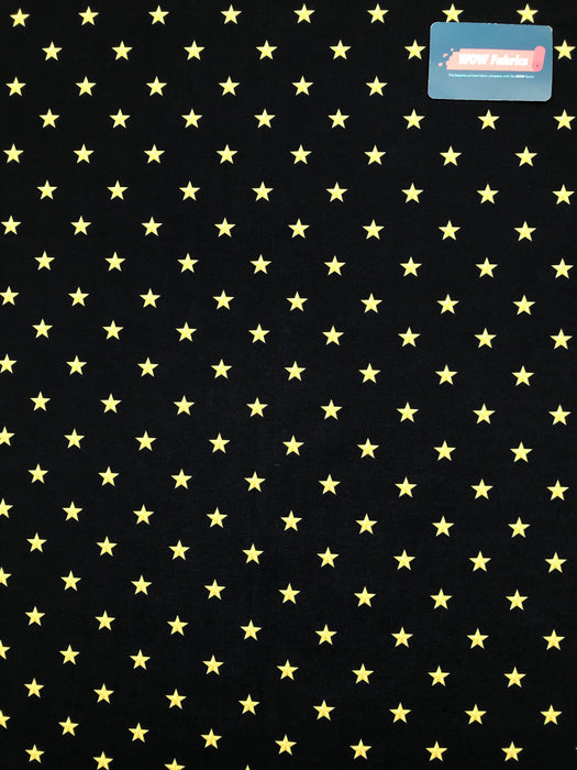 V3190  Black Background Gold Stars Print