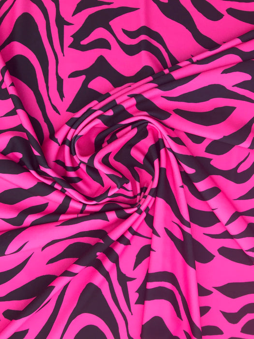V7750 Hot Pink Animal Zebra Print