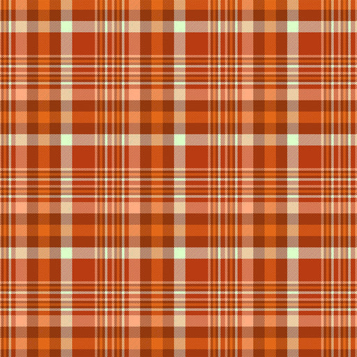 J140  Orange check plaid Print