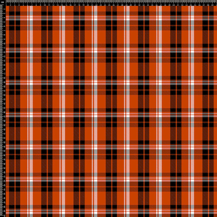 J156 ORANGE CHECK PLAID PRINT