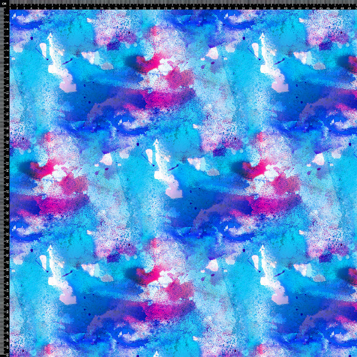 J178 BLUE PAINT ABSTRACT PRINT