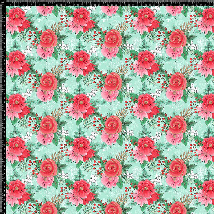 J489 TWO MIX ROSES PRINT