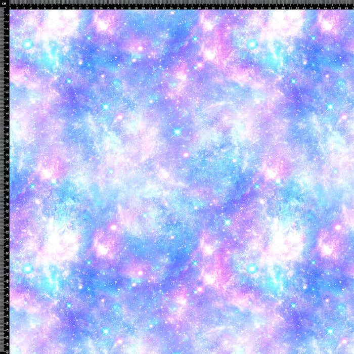 S289 LIGHT BLUE AND PINK GALAXY PRINT
