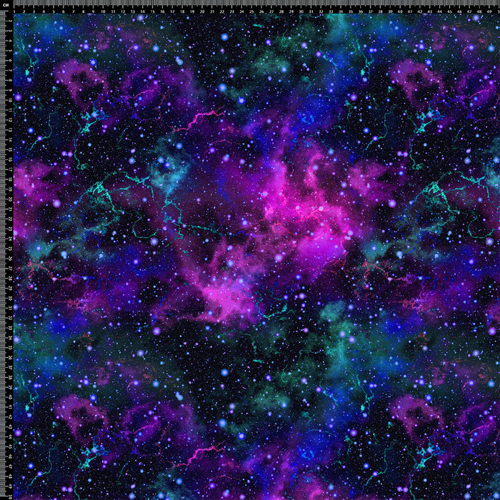 S299 PURPLE AND BLUE GALAXY PRINT
