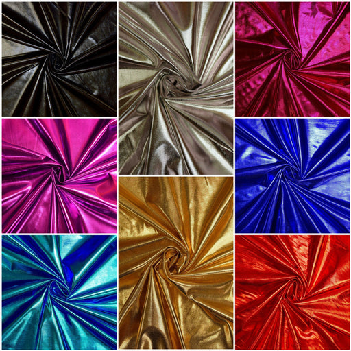 Foil Shiny Plain Fabric