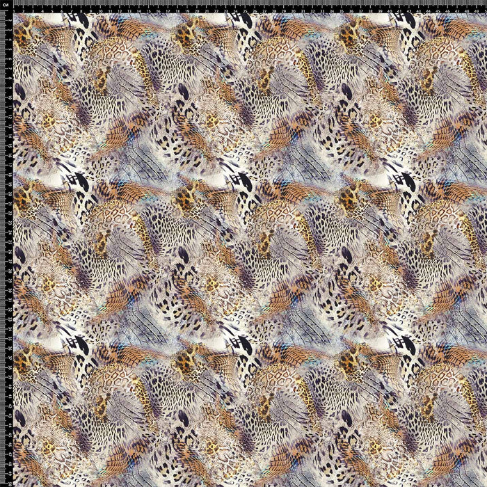 J1045 MIX REPTILE SKIN ANIMAL PRINT