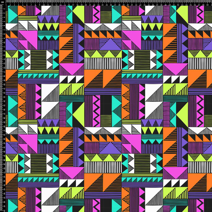 J1112 COLORFUL ABSTRACT SHAPES PRINT
