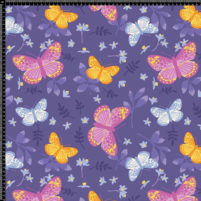 J1164 PURPLE COLORFUL BUTTERFLY PRINT