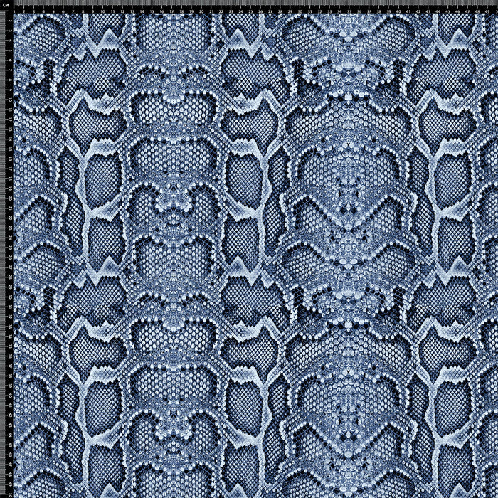 J208 BLUE LEATHER LOOK SNAKE PRINT