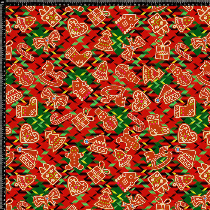 J261  CHRISTMAS MIXED TARTAN  PRINT