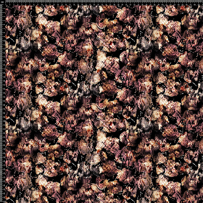 J269 PINK AND BLACK SNAKE  PRINT