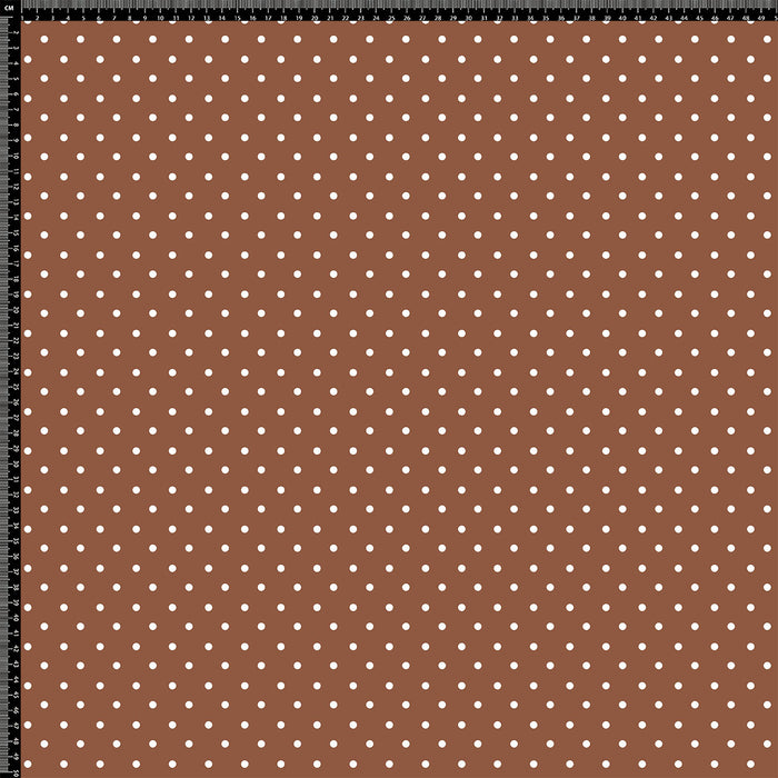 J321 BROWN SMALL POLKA DOTS PRINT
