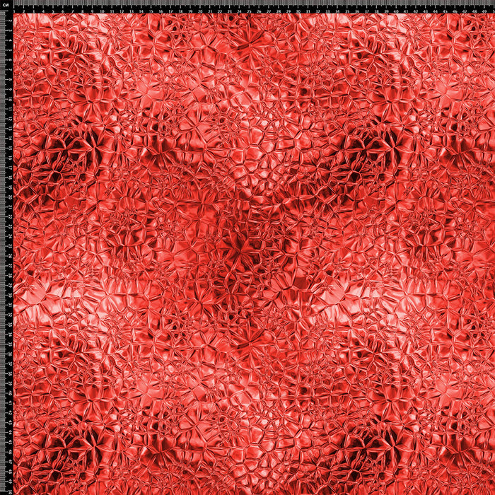 J347 RED SHINY LOOK TEXTURE PRINT