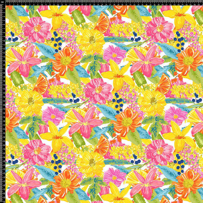 J503 TROPICAL BRIGHT FLORAL PRINT