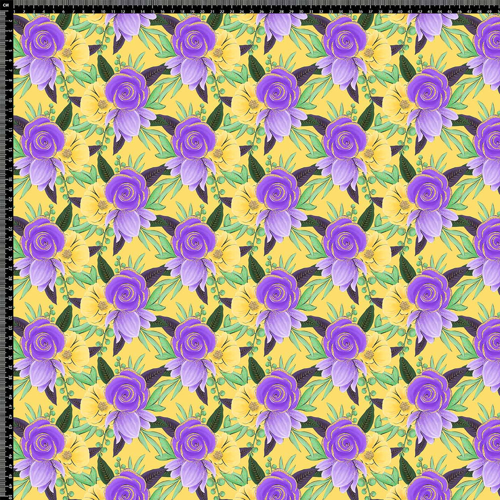 J598 YELLOW BASE FLORAL PRINT