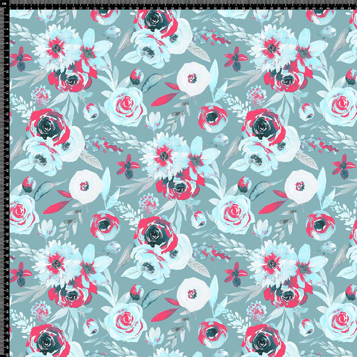 J604 LIGHT BLUE MIXED FLORAL PRINT