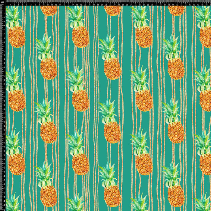 J631 STRIPE PINEAPPLE FOOD PRINT