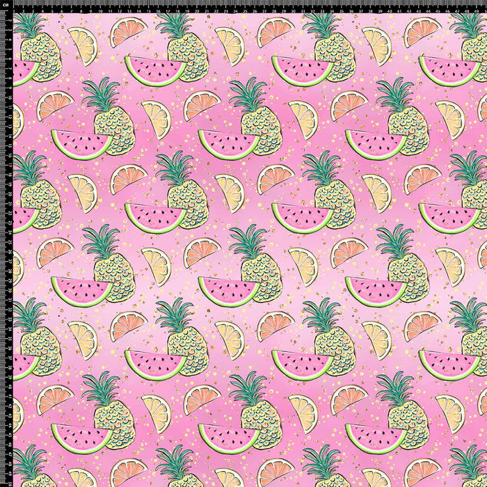 J711 WATERMELON AND PINEAPPLE PRINT