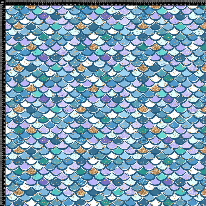J690 BLUE MIX MERMAID SCALE PRINT