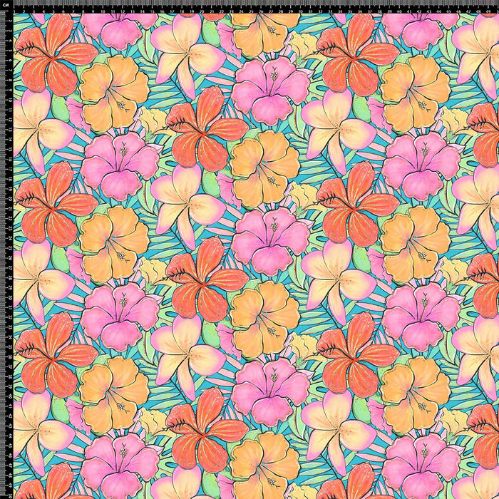 J892 LOVELY COLORFUL FLORAL PRINT