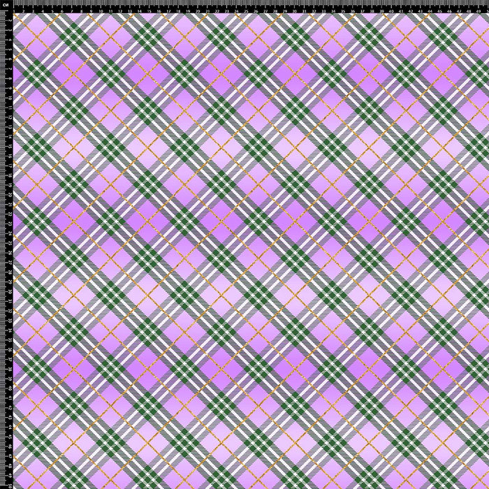 J898 PINK AND BLACK PLAID CHECK PRINT