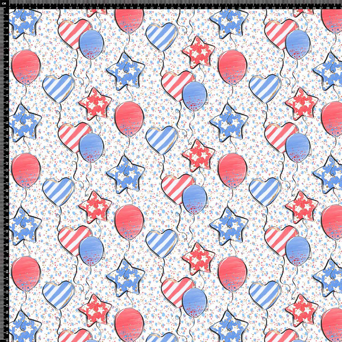 J906 USA HEARTS AND BALLOON PRINT