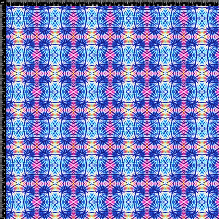 J980 BLUE AND PINK TIE DYE PRINT