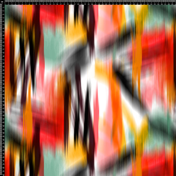 S653 ABSTRACT RED YELLOW GREEN PRINT