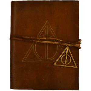 Deathly Hallows Leather Notebook