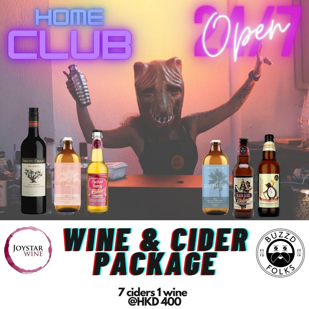 Home Club Package B (Cider & Wine) - buzzdfolks