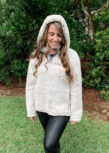 Hooded Sherpa Pullover